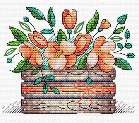 MP Studia Cross Stitch Kit - Scarlet Freshness