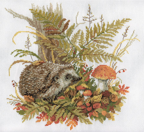 Panna Cross Stitch Kit : Autumn Hedgehog