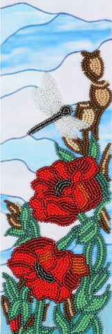VDV Bead Embroidery Kit - Decorative Poppies 3