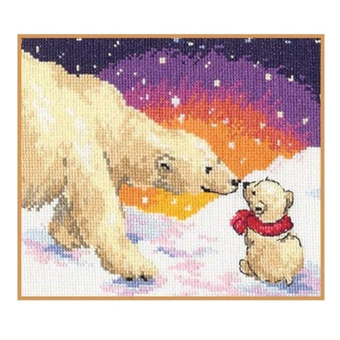 Alisa Cross Stitch Kit - White Bears
