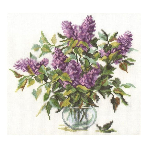 Alisa Cross Stitch Kit - Bouquet of Lilacs