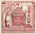 Panna Cross Stitch Kit : Redwork Harth and Home