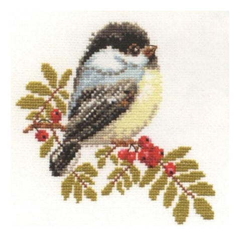 Alisa Cross Stitch Kit - Chickadee