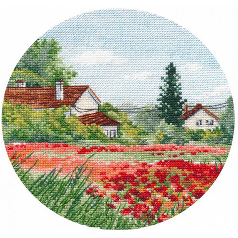 Oven Cross Stitch Kit - Miniature Poppies