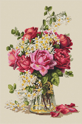 Merejka Cross Stitch Kit - Roses