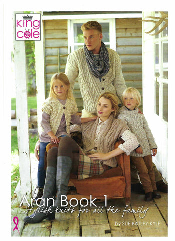 King Cole Pattern Book - Aran Book 1