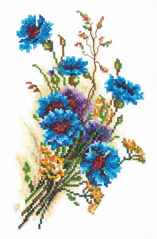 Magic Needle Cross Stitch - Bouquet of Cornflowers