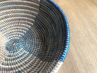Large Blue and White African Basket