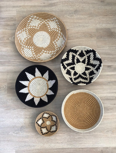 Set of 5 African Wall Baskets