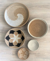 African Wall Basket Set of Five