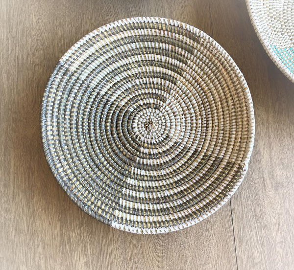 "12"" White and Silver African Basket"