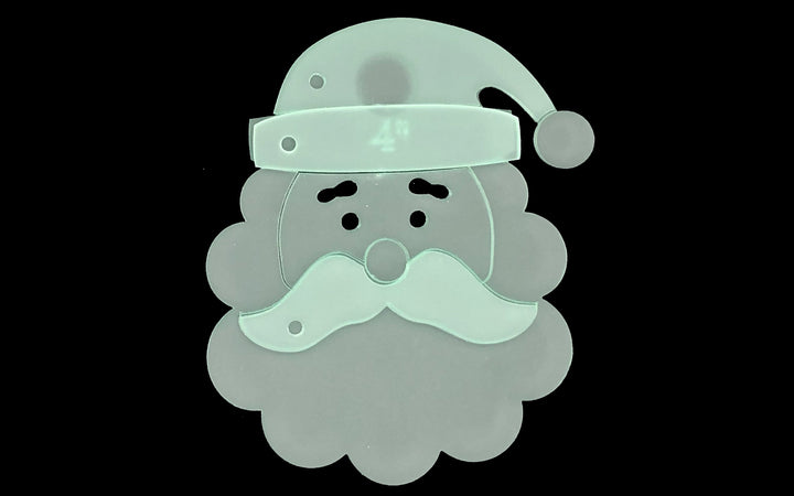 A FANTASTIC SANTA FACE ACRYLIC SEWING CRAFT TEMPLATE from 4""