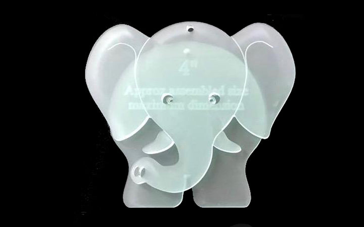 A FUN ELEPHANT SEWING/CRAFT TEMPLATE FROM 3""