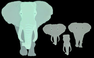 AN ELEPHANT SEWING/CRAFT TEMPLATE FROM 4""