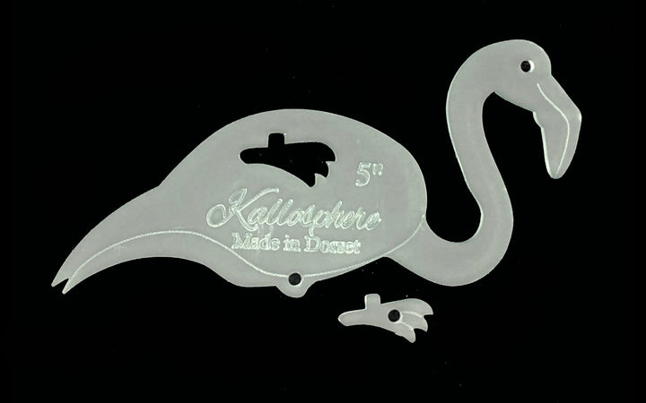 A FLAMINGO ACRYLIC TEMPLATE FOR APPLIQUÉ, SEWING, QUILTING, PAPERCRAFT from 3""