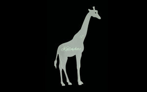 A GIRAFFE ACRYLIC TEMPLATE FOR APPLIQUÉ, SEWING, QUILTING, PAPERCRAFT from 3""