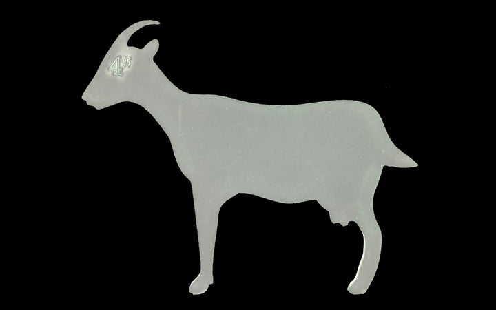 A GOAT SEWING/CRAFT TEMPLATE FROM 3""