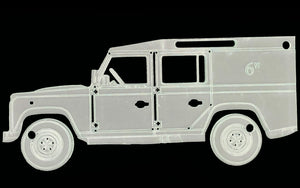 A LAND ROVER ACRYLIC SEWING/CRAFT TEMPLATE