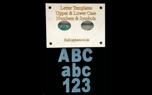 STRAIGHT APPLIQUÉ LETTERS (upper and lower case) AND SYMBOLS AND NUMBERS SEWING/CRAFT TEMPLATES 6cm