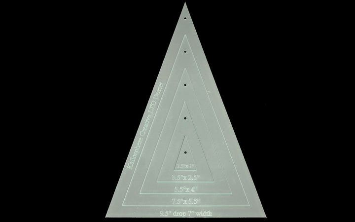LONG TRIANGLE SEWING/CRAFT TEMPLATES INCHES - QUILTING OR BUNTING