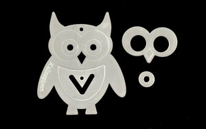 A FUN ACRYLIC OWL TEMPLATE FOR SEWING CRAFT from 3""