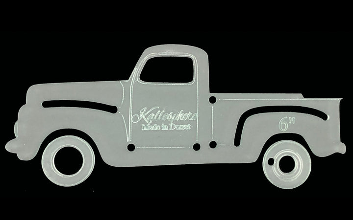 A PICK UP TRUCK ACRYLIC SEWING/CRAFT TEMPLATE