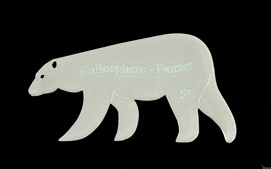 ACRYLIC POLAR BEAR SEWING CRAFT TEMPLATE