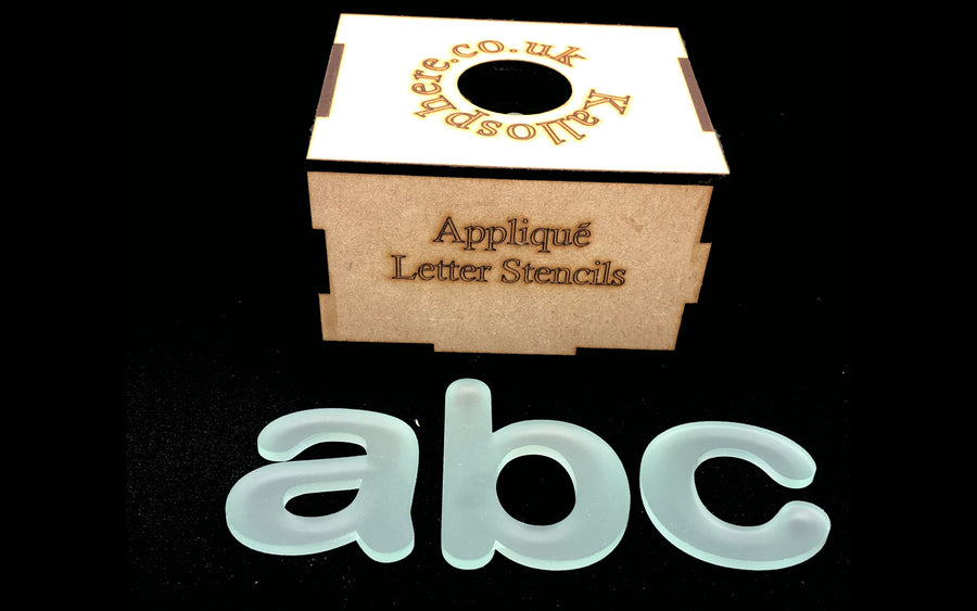CURVED APPLIQUÉ LOWER CASE LETTERS AND SYMBOLS SEWING/CRAFT TEMPLATES
