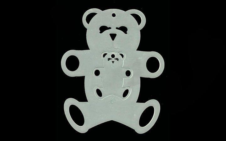 A TEDDY BEAR DUO ACRYLIC SEWING/CRAFT TEMPLATE