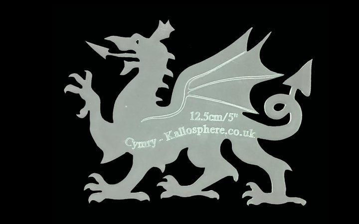 A WELSH DRAGON ACRYLIC SEWING/CRAFT TEMPLATE