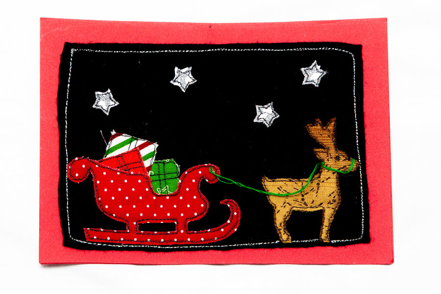 SANTA'S SLEIGH ACRYLIC SEWING CRAFT TEMPLATE