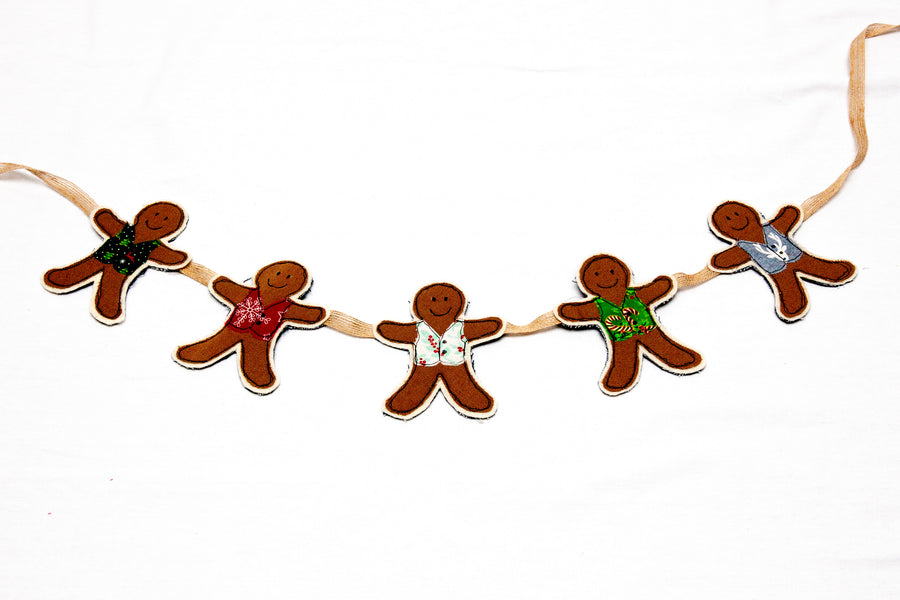 GINGERBREAD MAN WITH WAISTCOAT ACRYLIC SEWING CRAFT TEMPLATE