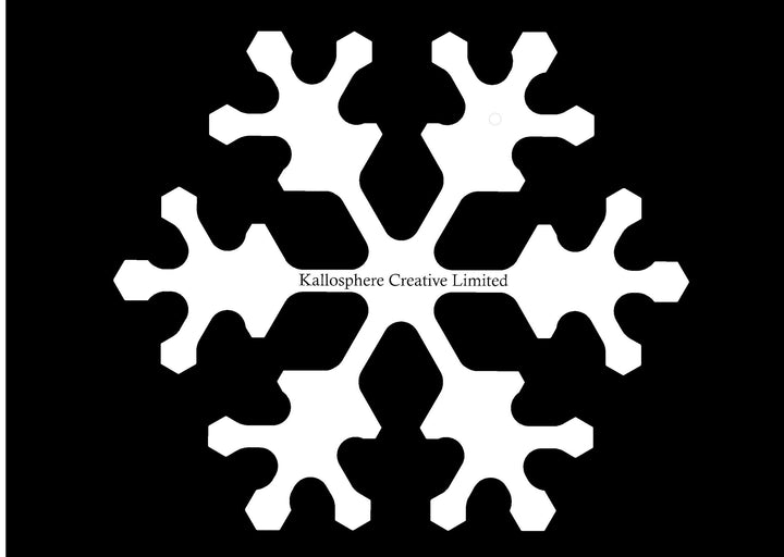 A SNOWFLAKE ACRYLIC MACHINE QUILTING TEMPLATE 4MM OR 6MM THICK