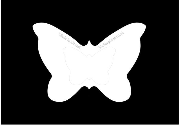 A BUTTERFLY ACRYLIC MACHINE QUILTING TEMPLATE 4MM OR 6MM THICK - LONG ARM
