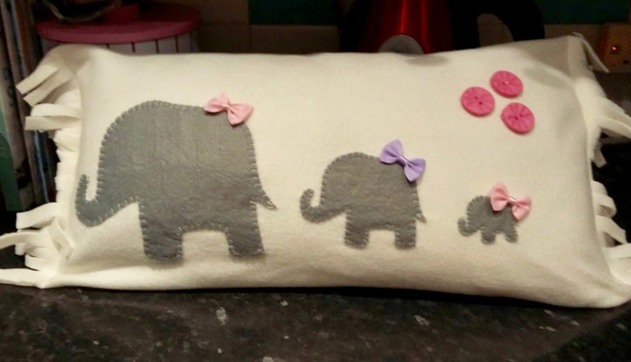 "A TRIO OF ELEPHANT SEWING AND CRAFT TEMPLATES - 7"" X 5"""