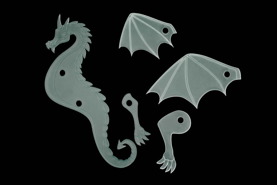 ACRYLIC DRAGON SEWING/CRAFT TEMPLATE