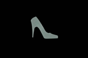 A HIGH HEEL ACRYLIC/CRAFT TEMPLATE