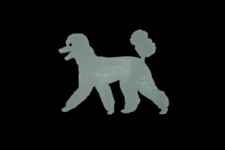 A STANDARD POODLE ACRYLIC SEWING/CRAFT TEMPLATE