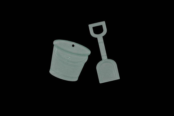 BUCKET AND SPADE ACRYLIC SEWING/CRAFT TEMPLATE