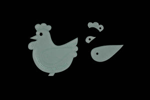 CHICKEN ACRYLIC SEWING/CRAFT TEMPLATE
