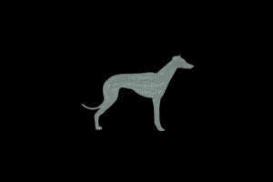A GREYHOUND ACRYLIC SEWING/CRAFT TEMPLATE from 3""