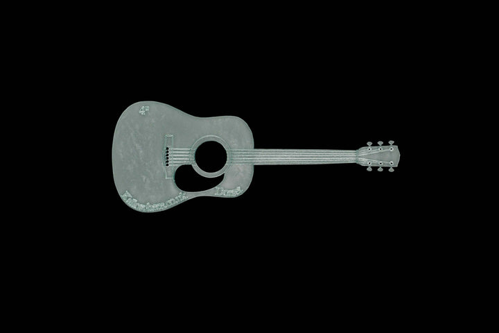 A GUITAR ACRYLIC SEWING/CRAFT TEMPLATE from 4""
