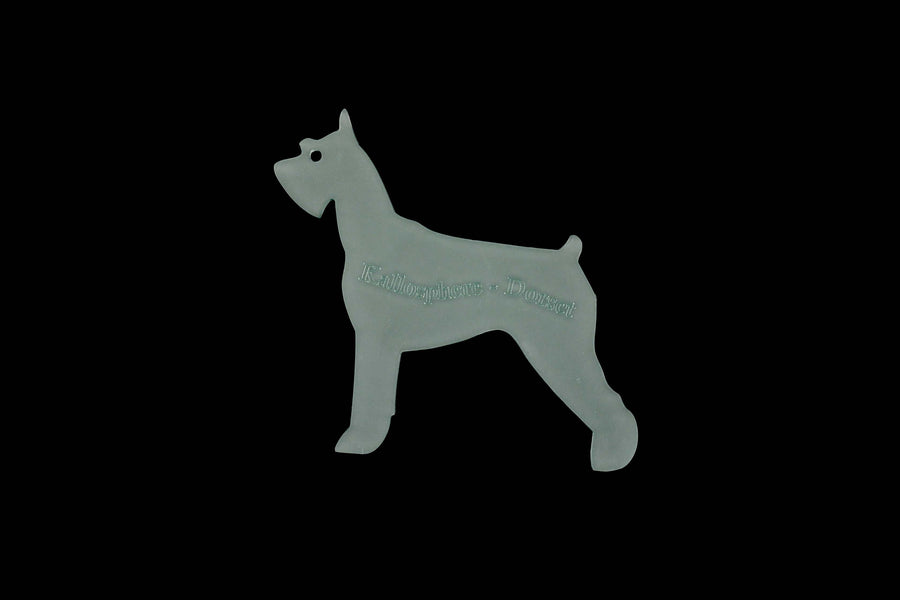 A SCHNAUZER ACRYLIC SEWING/CRAFT TEMPLATE