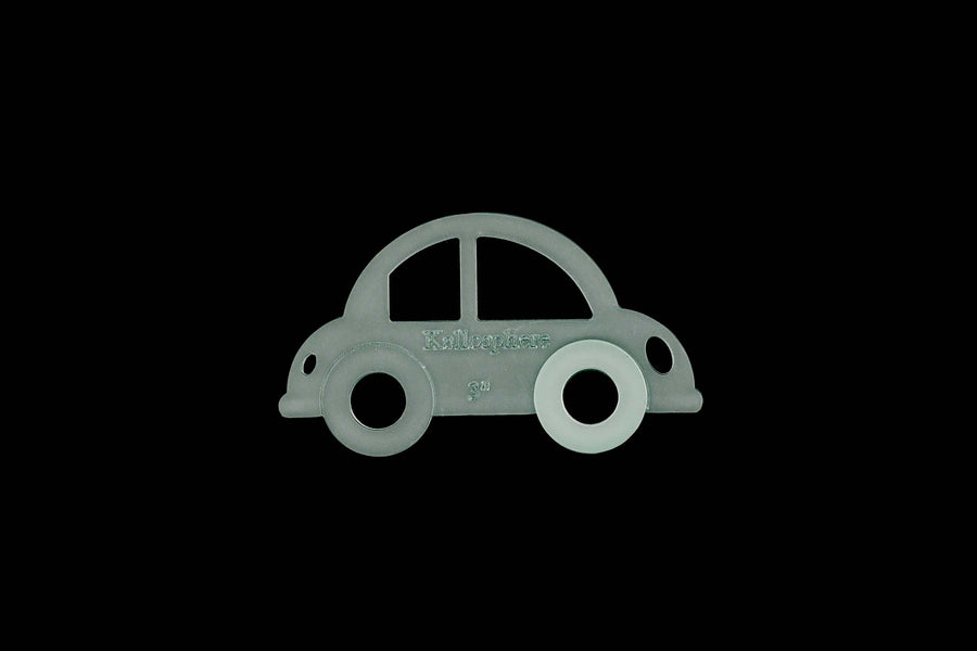 A BUBBLE CAR ACRYLIC SEWING/CRFT TEMPLATE from 6cm