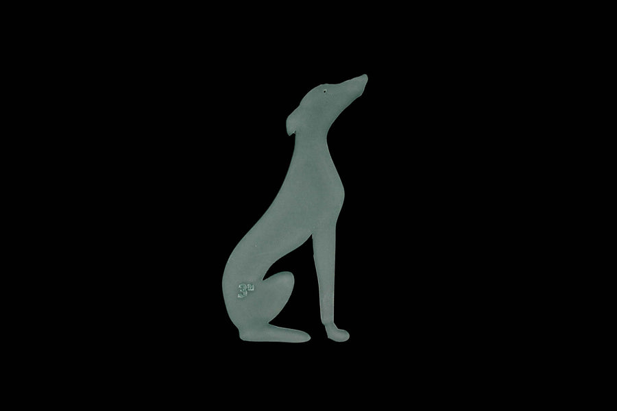 A SITTING GREYHOUND  ACRYLIC SEWING/CRAFT TEMPLATE