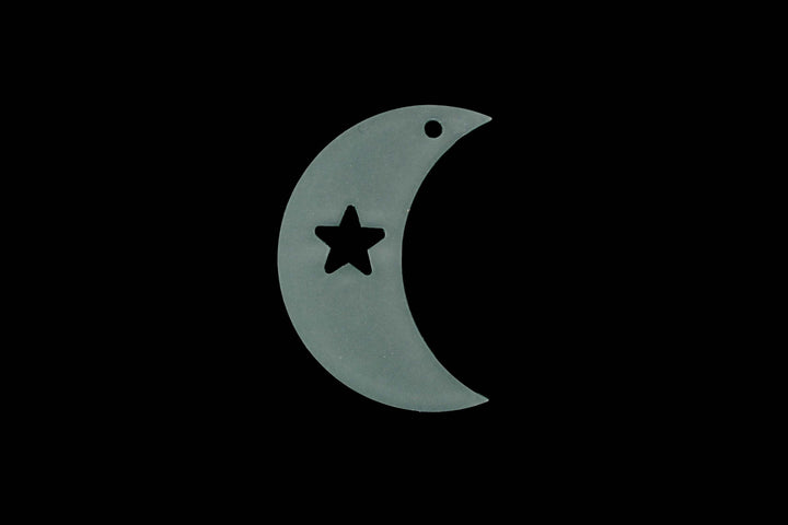 A MOON AND STAR  ACRYLIC SEWING/CRAFT TEMPLATE