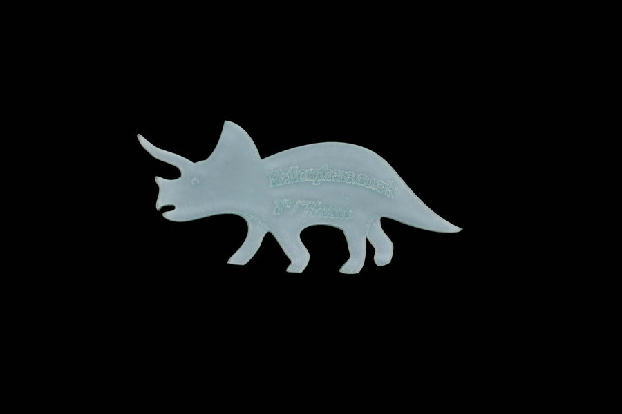 A TRICERATOPS  ACRYLIC SEWING/CRAFT TEMPLATE