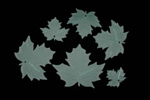 A SET OF 6 MAPLE LEAF ACRYLIC SEWING QUILTING CRAFT TEMPLATES