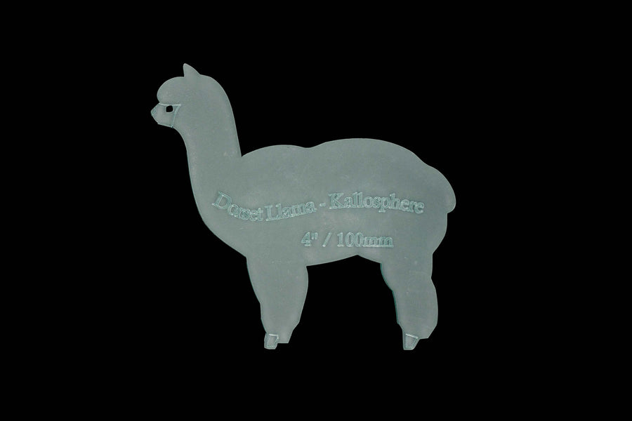 A LOVELY LLAMA ACRYLIC SEWING/CRAFT TEMPLATE from 6cm