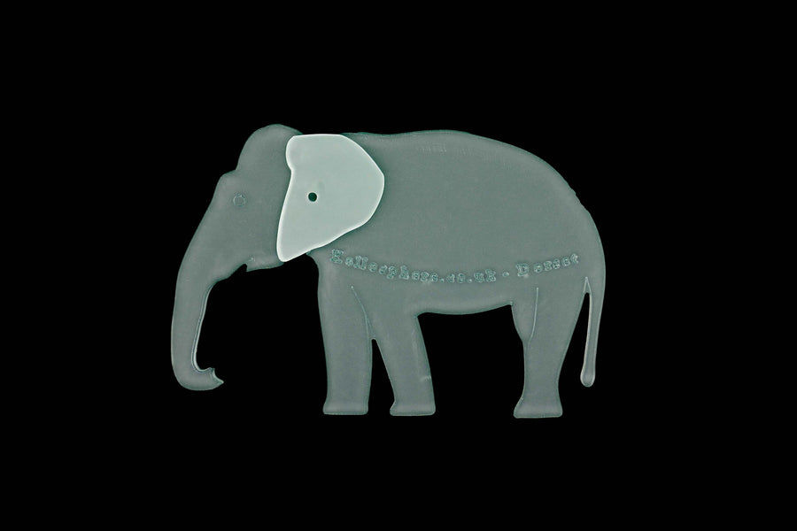 A REALISTIC ELEPHANT ACRYLIC SEWING/CRAFT TEMPLATE from 3""